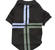 baratos -Gato Cachorro Camiseta Roupas para Cães Bandeiras Preto Terylene Ocasiões Especiais Para animais de estimação