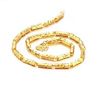 Недорогие -Бижутерия Ожерелья-цепочки Свадьба / Для вечеринок / Повседневные Позолота Мужчины Золотой Свадебные подарки