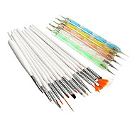 preiswerte -20PCS Nagel-Kunst-Suits (15PCS Nail Art Malerei Pinsel Sets & 5PCS 2-Way Nail Art Dotting Werkzeuge Kits)