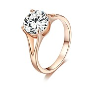 cheap -Women's Crystal Gold Plated Statement Ring - Princess Classic Ring For Wedding Party Party / Evening Casual