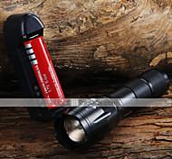 Torce LED Torce LED 1600 lm 3 Modo Cree XM-L T6 Messa a fuoco regolabile Zoom disponibile per Campeggio/Escursionismo/Speleologia Uso