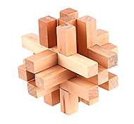 Wooden 14-Piece Lock Puzzle Brain Teaser IQ Toy Magic Cube