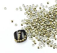 300PCS 3D Golden Arredondamento Liga Nail Art de Ouro e Prata Decoração