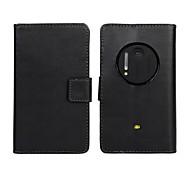 Coque Pour Nokia Coque Nokia Portefeuille Porte Carte Avec Support Coque Intégrale Couleur unie Dur Cuir PU pour Nokia Lumia 1020