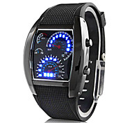cheap -Men's Digital Wrist Watch Sport Watch Calendar / date / day LED Speedometer Rubber Band Creative Black