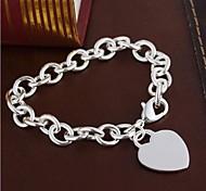 European Heart 20cm Women's  Sterling Silver Charm Bracelet(1 Pc) Christmas Gifts