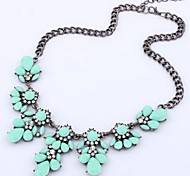 Women's Statement Necklaces Crystal Rhinestone Alloy Fashion Costume Jewelry Jewelry For Wedding Party Daily Casual
