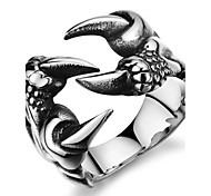 Fashion Wolf's Paw Personality Forward Stainless Steel Men's Ring (1 Pcs) Christmas Gifts