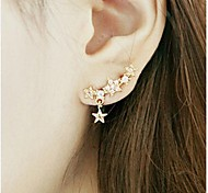 cheap -Women's Star Rhinestone Gold Plated Stud Earrings - Star For Wedding Party Daily Casual