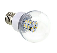 4w e26 / e27 bombillas de globo led g60 27 smd 5730 500lm blanco cálido 3000 ~ 3500k cd 12 ac 12 ac 24 dc 24 v 1 pc