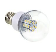abordables -4w e26 / e27 bombillas de globo led g60 27 smd 5730 500lm blanco cálido 3000 ~ 3500k cd 12 ac 12 ac 24 dc 24 v 1 pc