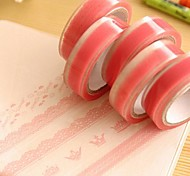 cheap -Pink Lace Pattern Tape