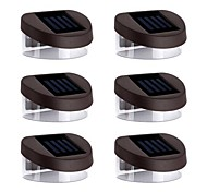 abordables -6pcs Luces solares LED Lámparas de Noche Solar Recargable Impermeable
