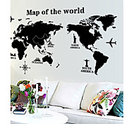 cheap -World Map Pattern Wall Sticker(1PCS)