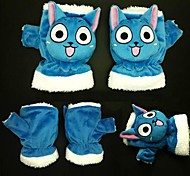 Gloves Inspired by Fairy Tail Cosplay Anime Cosplay Accessories Gloves Blue Polar Fleece Male / Female / Kid
