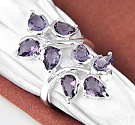 Unique Amethyst Gemstone Silver Ring 1PC Classical Feminine Style