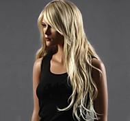 Недорогие -Парики из искусственных волос Кудрявый Стрижка каскад Водопад Блондинка Жен. Полностью ленточные Карнавальный парик Парик для Хэллоуина
