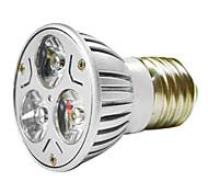 Недорогие -mr16 3w 1w * 3 светодиода 270-300lm теплый белый / белый свет светодиодные лампы (ac 100-220v)