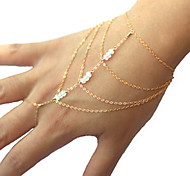 cheap -Women's Charm Bracelet Ring Bracelet Crystal Unique Design Multi Layer Fashion Simple Style Imitation Pearl Alloy Others Jewelry