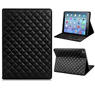 cheap -Soft Grid Pattern Protective PU and TPU Leather Case Cover Stand for iPad Air  (Assorted Colors)