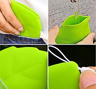 cheap -1Pc Portable Leaf Style Pocket Cup  Environmental Green Carry Cup