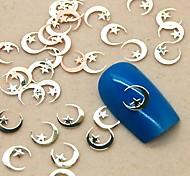 200PCS Golden Moon Shape Metal Slice Nail Art Decoration