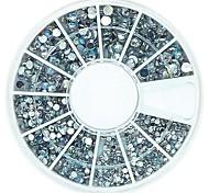 120pcs смесь 4 размер Bling Crystal AB акриловые стразы колеса украшение искусства ногтя