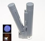 Недорогие -портативный светодиодной подсветкой 150X микроскоп со шкалой Маркировка (2 х АА)