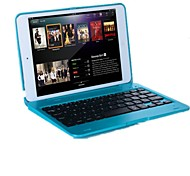cheap -For Case Cover with Stand with Keyboard Flip Full Body Case Solid Color Hard PC for iPad Mini 3/2/1