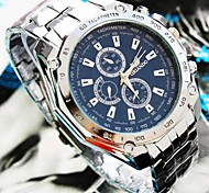 cheap -Men's Quartz Wrist Watch Casual Watch Alloy Band Charm Silver