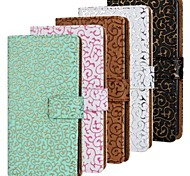 Hollow Pattern PU Leather Full Body Case with Stand and Card Slot for Samsung S5 I9600