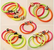 cheap -(3PC Random) Casual and Practical High Elastic Color Elastic Hair Bands