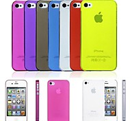 cheap -PP Ultra Thin 0.01 inch/0.3 mm Soft Case for iPhone 4/4S (Assorted Colors)