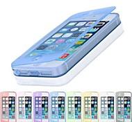 сенсорный экран ТПУ прозрачный полный случай орган по iPhone 4 / 4s (ассорти цветов)