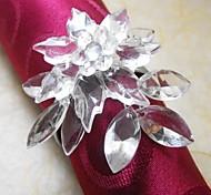 Пуансеттия Кристалл Салфетка кольцо В нескольких цветов, акриловые Beades, 3,5 см, набор из 12,