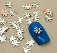cheap -200PCS Snowflake Shape Slice Metal Nail Art Decoration