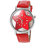 Women's Hollow Star Dial PU Band Quartz Wrist Watch (Assorted Colors) Cool Watches Strap Watch Unique Watches Fashion Watch