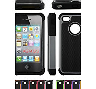 Two-in-One Football Grain Design PC and Silicone Case for iPhone 4/4S (Assorted Colors)