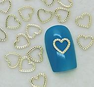 abordables -200pcs único corazón cordón diseño de metal de oro decoración de uñas de arte rebanada