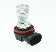 H8 PGJ191 CREE XP-E LED 20W 1300-1600LM 6500-7500K AC/DC12V-24 Fog White - Silver Black