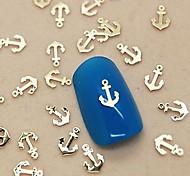 Недорогие -200шт лодка якорь золотой металл ломтик ногтей украшения