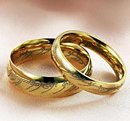 cheap -Women's Couple Rings Gold Titanium Steel Fashion Wedding Party Daily Casual Costume Jewelry