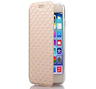 Diamond Pattern TPU and PU Leather Full Body Case with Stand for iPhone 6/6S(Assorted Colors)