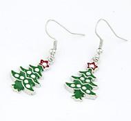 Серия Рождество - Рождество серьги дерево