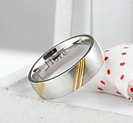 personalisiertes Geschenk, modisch Edelstahl-Schmuck graviert Herrenring 0,6 cm Breite
