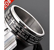 Lureme®Fashion Men's Ring(Black)(1 Pc) Christmas Gifts