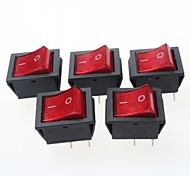 cheap -4-Pin Rocker Switches with Red Light Indicator 15A 250VAC (5-Piece Pack)