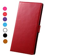 abordables -Crazy Horse Pattern Magnetic Flip Stand PC+PU Leather Case with Card Slots for Nokia Lumia 1520(Assorted Colors)