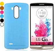сплошной цвет сетки шаблон дизайна гель ТПУ задняя крышка чехол для LG g3 D850 (ассорти цветов)