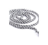 Men's Fashion All Match Circle Titanium Steel Chain Necklace